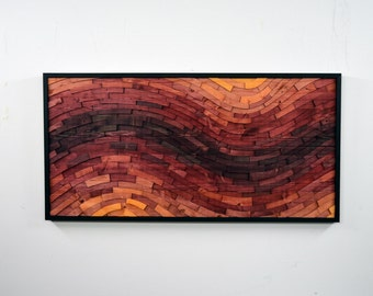 "wood wall art - ""MINERAL RIGHTS"" - wooden art, wall art, large, red, contemporary, modern art, wooden wall hanging"