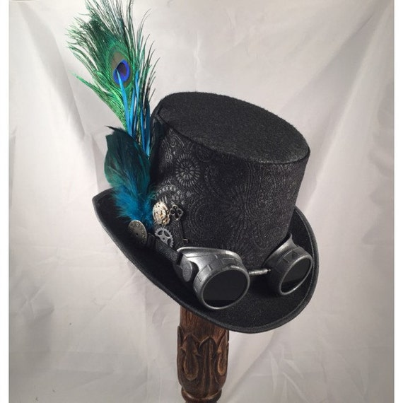 STEAMPUNK TOP HATS, Steampunk Store,Steampunk Wedding, Black