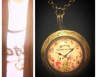 Clock/Locket Necklace