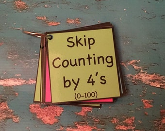 Skip Counting by 4 teacher made resource math center activity elementary grade