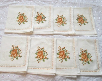 Yellow Rose Serviettes, Yellow Rose Napkins, Burnt Umber Serviettes, Burnt Umber Napkins, Burnt Umber Line