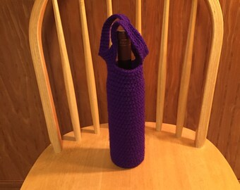 Purple wine tote