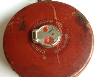 Vintage Leather Bound Tape Measure By Chesterman of Sheffield