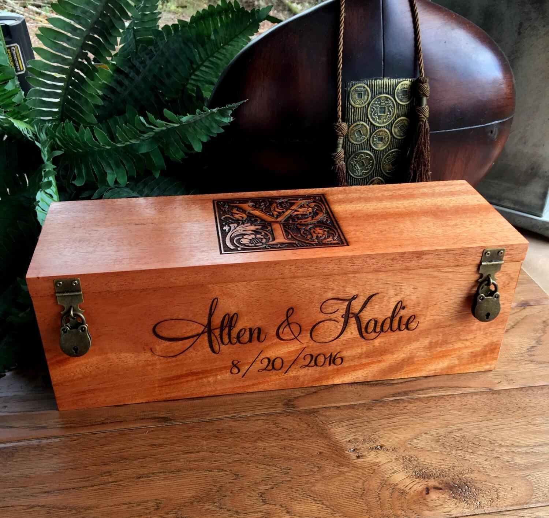Wine Box Custom Wine Box Wedding Wine Box Wedding Gift