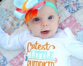 Cutest little pumpkin in the patch/Little pumpkin/Baby/ fall