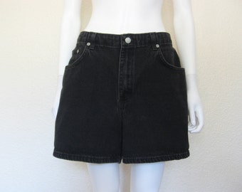 90s Black Jean Shorts - LARGE
