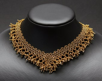 Antique Gold Coral Necklace
