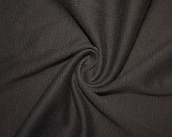 """Charcoal Ponte Di Roma Double Knit Polyester Spandex Lycra Stretch Medium Weight Apparel Craft Fabric 58""""-60"""" Wide By The Yard"""