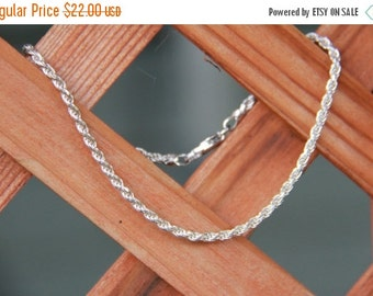 10% OFF SALE Simple elegant swirl real sterling silver bracelet