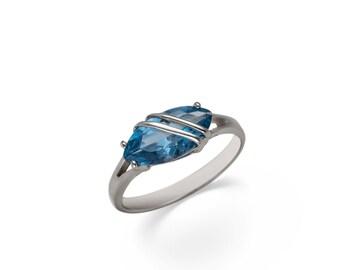 Marabelle. Handmade Aquamarine Ring
