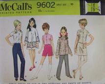 Vintage 1960s McCall's 9602 Child's size 10 Hippie DRESS pattern UNCUT