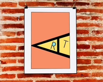 Minimalist Red Wall Art Quote Prints Download, Geometric Art, Digital Print Decor, Printable Modern Art, ART Letters, Graphic Design Prints