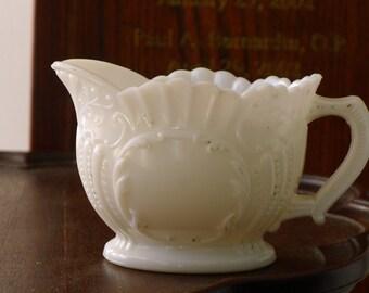 Portieux Vallerysthal milk glass cream pitcher