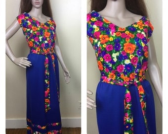On  SALE Vintage hawaiian dress 1960s tiki dress mod Luau Dress Vintage 60s Abstract Floral Tiki opical  Hawaii   XL XXL