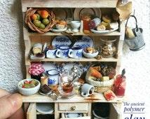 Kitchen dresser, miniature kitchen furniture 1:12