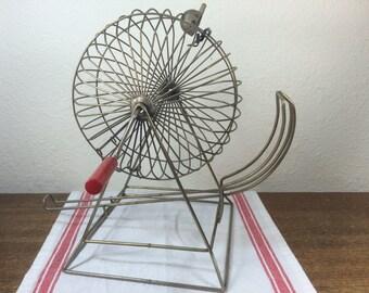 Metal Bingo Cage Spinner *FREE SHIPPING* Retro Bingo Ball Tumbler