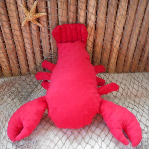 Lobster plushie lobster toy minky dot lobster sealife toy