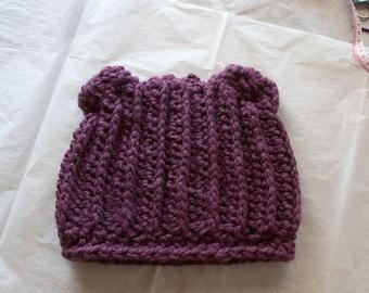 Crochet Teddy Bear Hat for Women