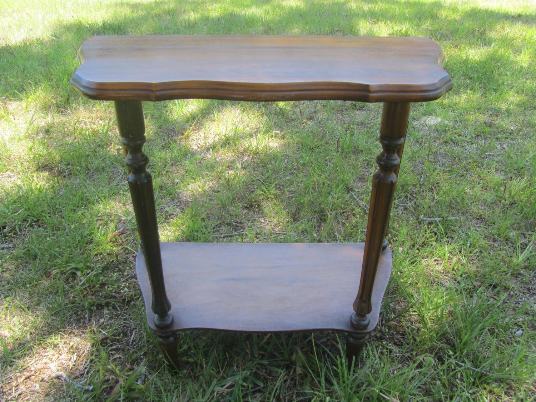 Vintage Side Table Wood Table End Table Table Furniture