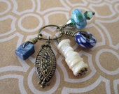 Assorted Handmade Charms - Ready Made Jewelry Parts - Blue Jean Baby - Unique and Original Jewelry Charms - Boho Hippy Style