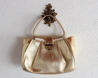 1950s Vintage Gold Handbag