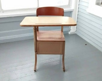 Sale, School Desk, Kids Desk and Chair, Childrens Desk and Chair, Vintage, Kids room Furniture, Home Decor