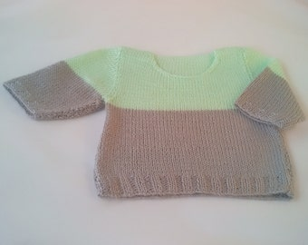 Knit baby sweater | Baby doll knit sweater | Baby handmade sweater