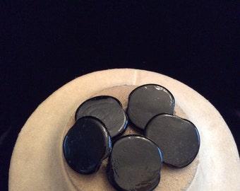 Vintage Chunky Black Glass Bracelet