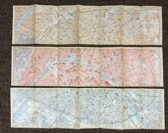 1894 Paris Map [23.5 x 18.3 in.] Unique One of a kind Paris Map