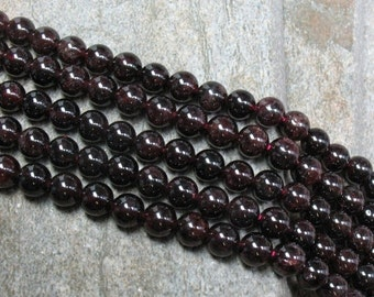 "15% OFF 6 mm Garnet Beads, 15.5"" strand - Item B0638"