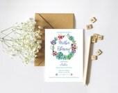 Spring Mother Blessing Invitation, Blessingway Invite, Boho Invite, Floral Invitation, Printable Mother Blessing invite // Floral Spring