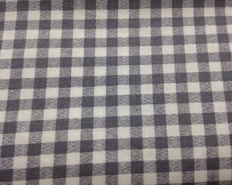 Gray fabric by the yard - grey fabric by the yard - gray checkerboard fabric - gray and white fabric - #15331