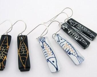 Glass Earrings: Pisces Medium Bars * NEW*