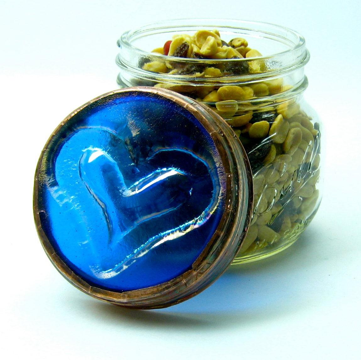 vintage blue mason ball canning jar with lid decorative. Black Bedroom Furniture Sets. Home Design Ideas