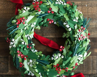 SVG FILE: DIY Paper Christmas Wreath