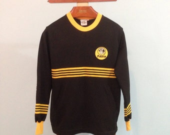 Vintage Custom 70s 80s Pittsburgh Pirates MLB Pull Over Long Sleeve Sports Top - Sm/Med