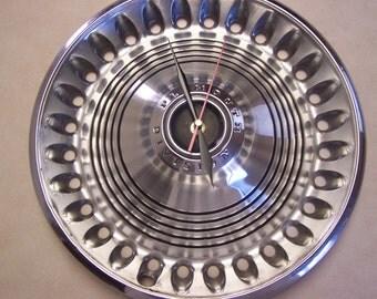 Plymouth Hubcap Clock - Vintage Hub Cap Clock - Man Cave - Shop Clock - Garage Gift - Hub Cap Clock -Wall Clock -Plymouth, Plymouth Division
