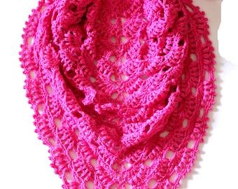 Crochet Shawl Pattern, Lace Shawl Crochet Pattern, Summer Scarf, Summer Shawl, Wraps Shawls, Bridal Shawl, Wedding Shawl, Triangle Scarf