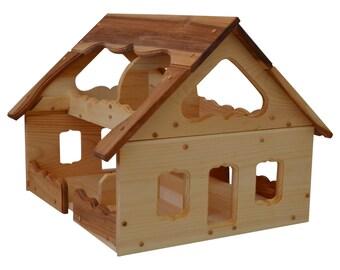 maison de poup e en bois maison de poup e jouet jouer. Black Bedroom Furniture Sets. Home Design Ideas
