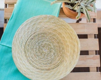 Handmade Basket, Fair Trade, Natural Home Decor, Bread Basket, Tortilla Basket, Fruit Basket,
