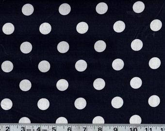 Big Dot Navy Polka Dot Sewing Quilting Fabric by the Yard #400-2