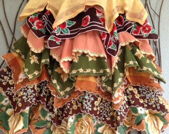 SALE -- Vintage Hanky Apron, Scottish Plaid, Kitchen Lingerie, Bachelorette Gift