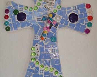 rosary cross mosaic