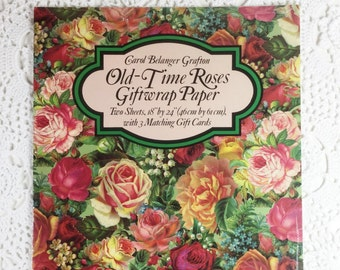 Old time roses etsy for Design home gift paper inc