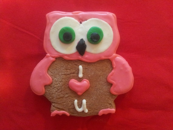 I love you - Owl (Lebkuchen / Honey cake)