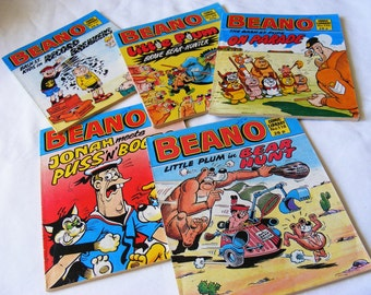 Beano Comics, 5 issues, 1983 - 87, Comic Library, Cartoon book