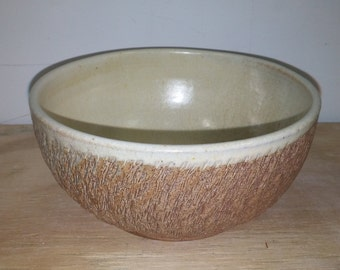 Wood Fired 32oz wood fired bowl, stoneware wood fired bowl, natural ash glaze cereal bowl