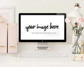 Shades Of Blush / Desktop Mockup Scene / Stock Photo / Commercial Use