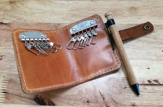 Leather Key Pouch Key Case Custom Keychain Home Car Key