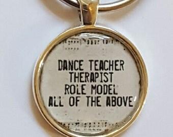 Dance Teacher Keychain Dance Teacher Gift